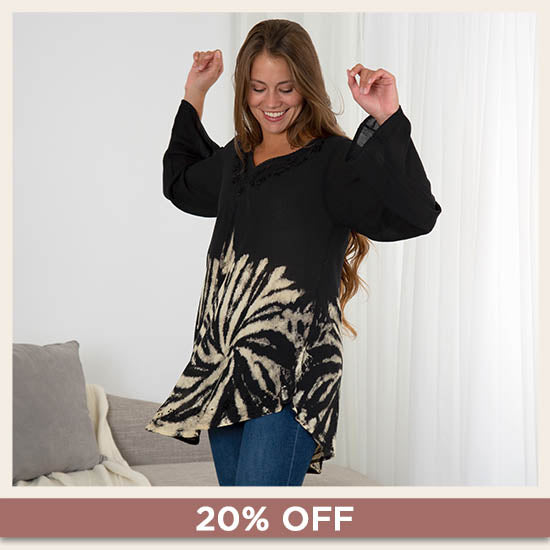 Shadows of the Moon Long Sleeve Tunic - 20% OFF