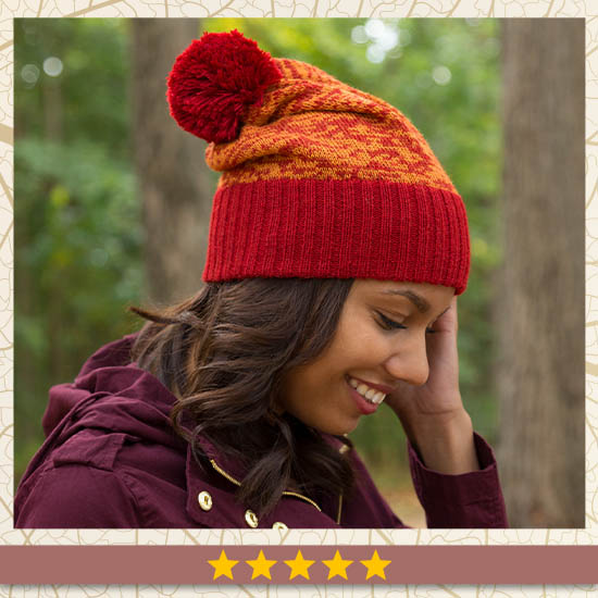 Colorful Alpaca Slouchy Hat - Five Stars