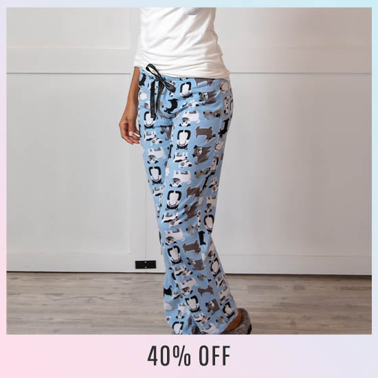 Happy Pets Fleece Pajama Pants - 40% OFF
