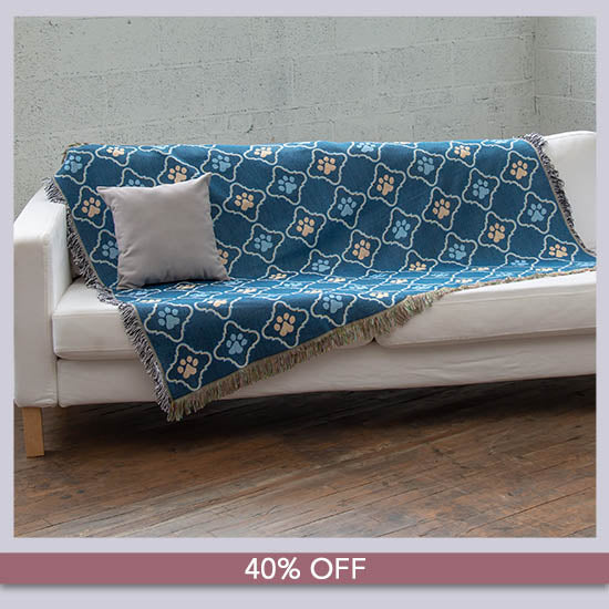 Cozy Paws Tapestry Throw Blanket - 40% OFF