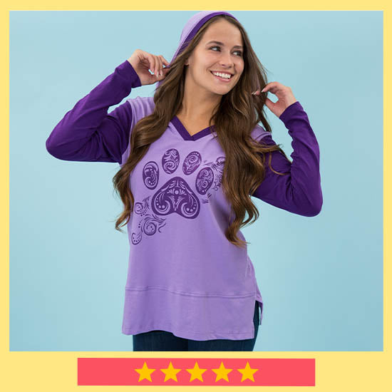 Purple Paw Swirl Two-Toned Tunic - ★★★★★