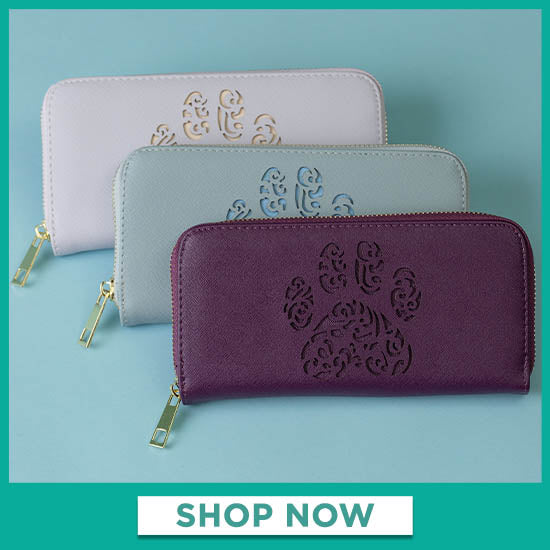 Pawsitively Beautiful Zipper Wallet - Shop Now