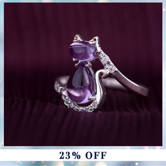 Amethyst Hearts & Paws Sterling Bracelet - On Sale