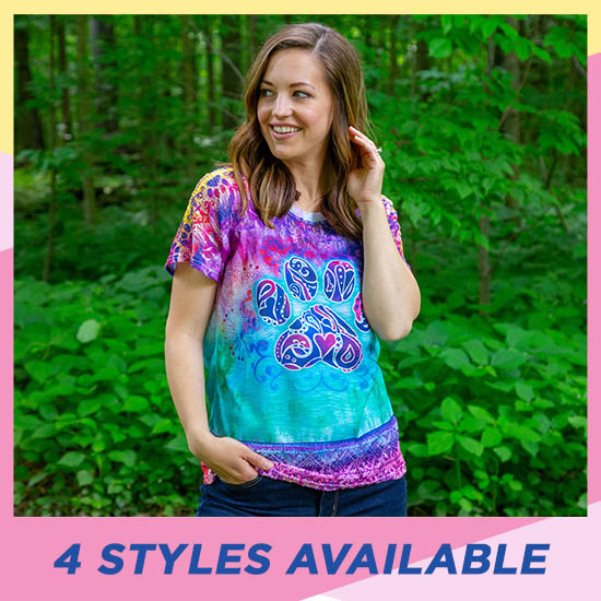 Animal Love Lace Dolman Tee - 4 Styles Available