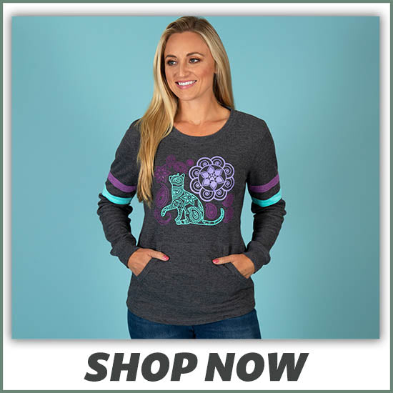 Pet Paisley Thermal Long Sleeve Top - Shop Now