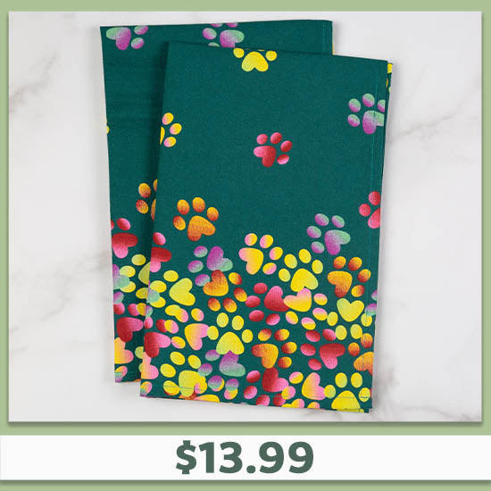 Tumbling Paws Dish Towel Set - $13.99