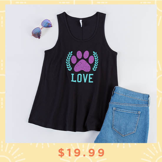 Love Paw Flowy Tank Top - $19.99