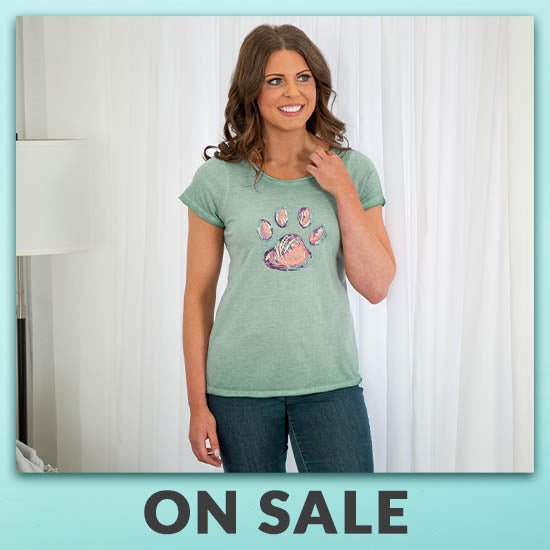 Paw Print Soft Wash T-Shirt - On Sale