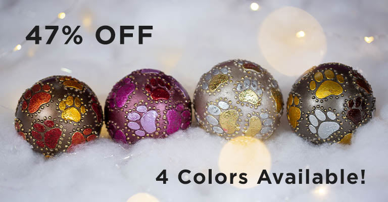 Beaded Paw Ball Ornament | 47% OFF | 4 Colors Available!