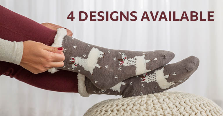 Cute Critters Knitted Slipper Socks | 4 Designs Available