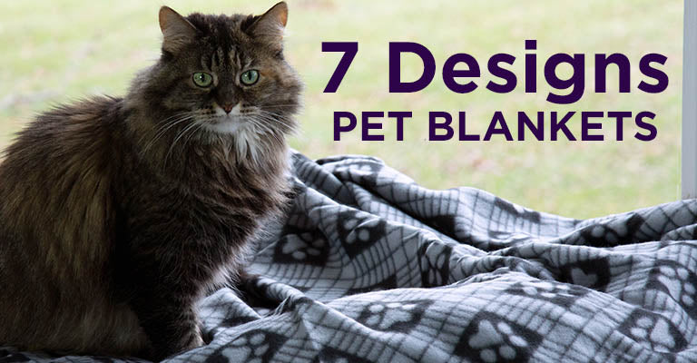 Snuggle Paws Fleece Pet Blanket | 7 Designs Available