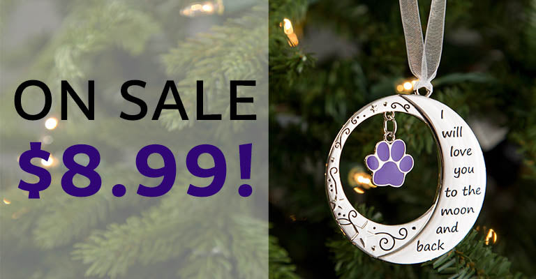 Love You to the Moon & Back Paw Ornament | Only $8.99