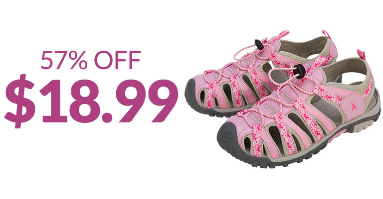 Path to Pink™ Women's Sport Sandals | 57% OFF | $18.99