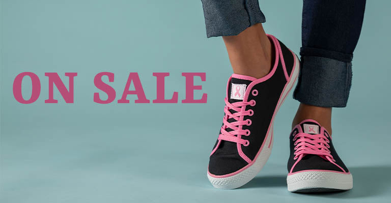 Pink Ribbon Sneakers | On Sale