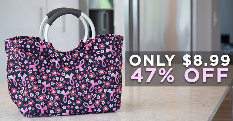 Pink Ribbon Insulated Shopping Bag | Only $8.99 | 47% OFF