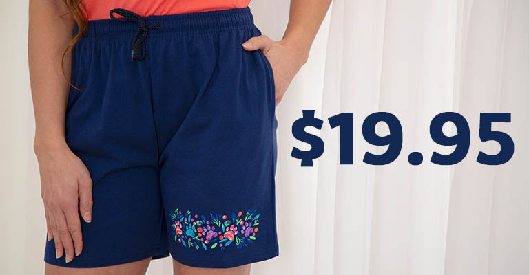 Island Paws Casual Shorts | $19.95