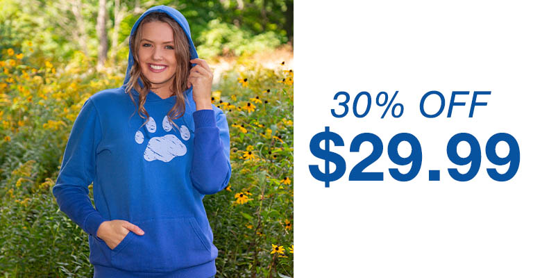 Distressed Paw Ombre Hoodie | $29.99 | 30% OFF