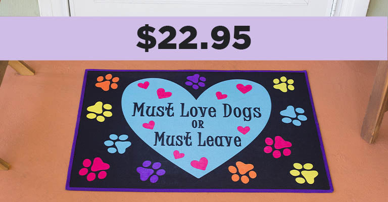 Must Love Dogs Recycled Door Mat | $22.95