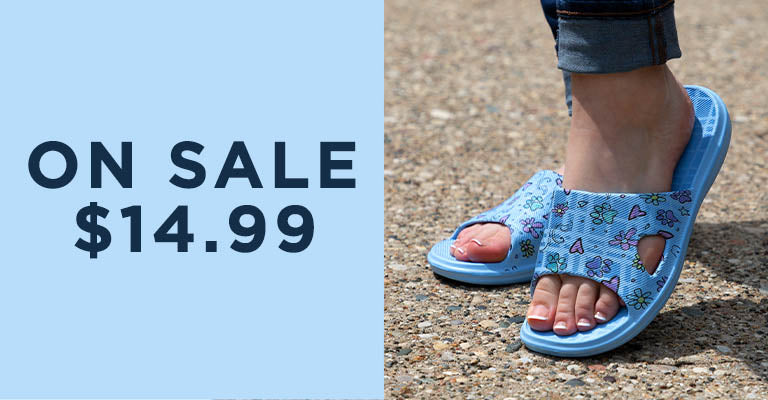 Paw Print Open Toe Slide Sandals | On Sale | $14.99
