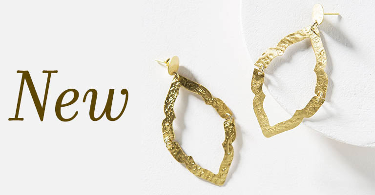 Ashram Window Brass Earrings | New!
