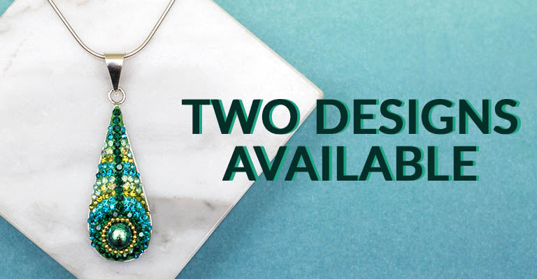 Peacock Mosaic & Sterling Necklace | Two Designs Available