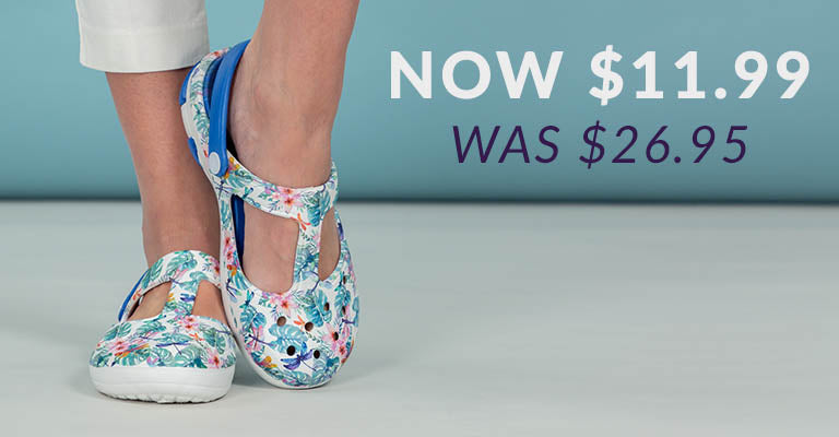 Tropical Delight Mary Jane Clogs | Was $26.95 | Now $11.99