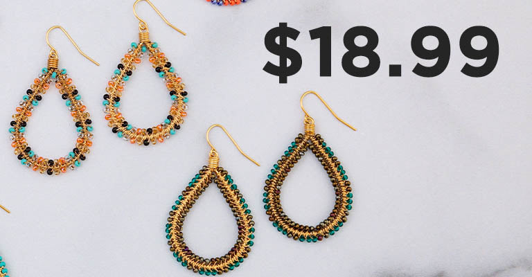 Double Beaded Teardrop Earrings | $18.99