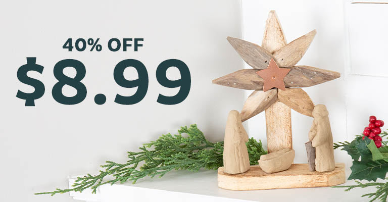 Handmade Recycled Driftwood Christmas Ornament | 40% OFF | $8.99
