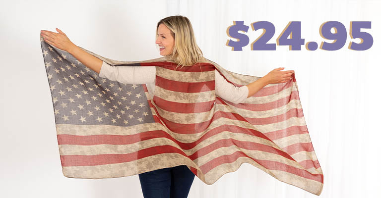 Vintage Flag Inspired Duster | $24.95