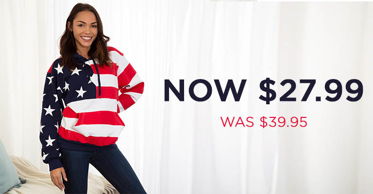 American Flag Sweatshirt | Was $39.95 | Now $27.99