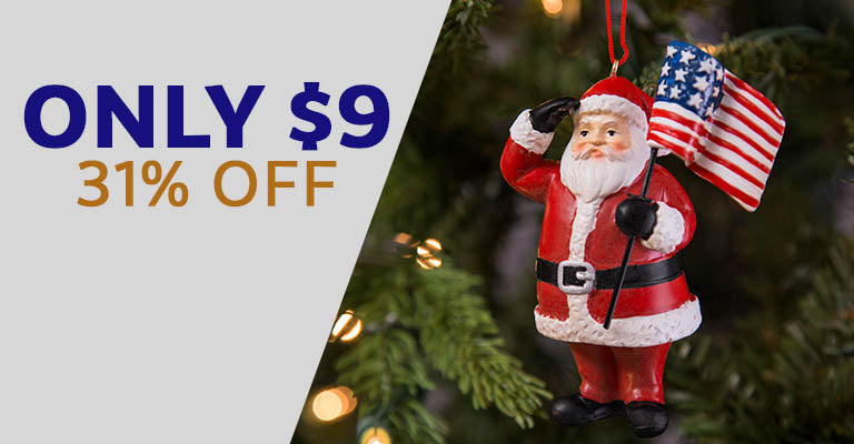 Santa's Salute Ornament | Only $9 | 31% OFF