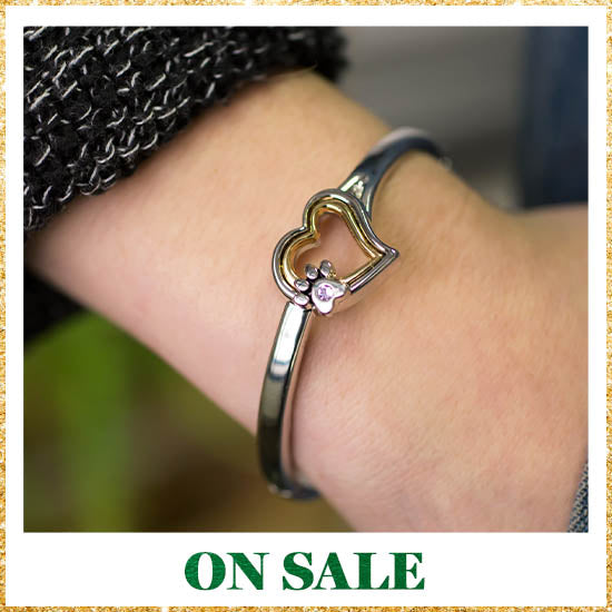 A Life Without Paws Heart Bracelet - On Sale