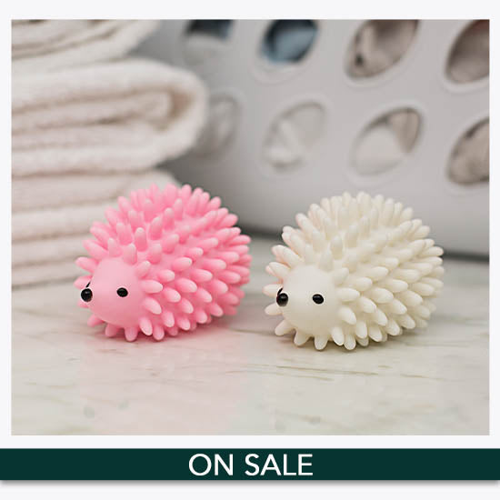 Hedgehog Pink & White Dryer Balls Set - On Sale