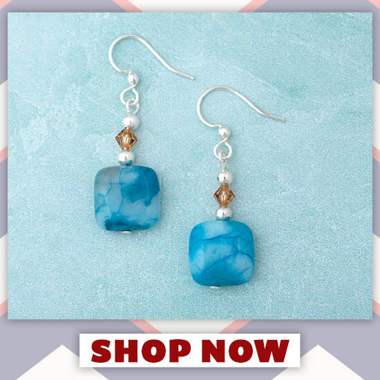 Crazy Lace Agate Earrings - Shop Now