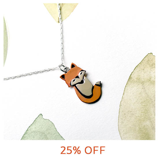 Fox Sterling & Copper Necklace - 25% OFF