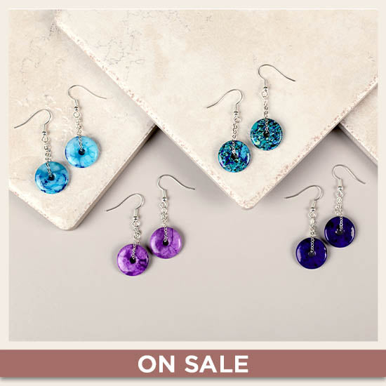 Perfect Circle Agate Earrings - On Sale