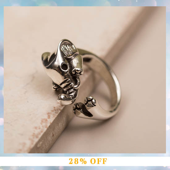 Sterling Elephant Wrap Ring - 28% OFF