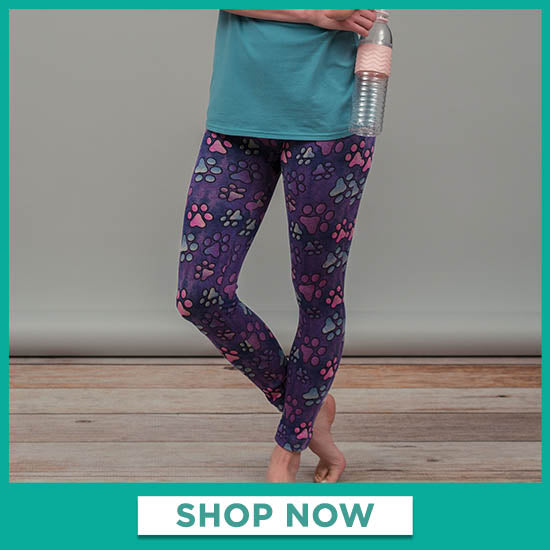 SuperCozy™ Marbled Paws Leggings - Shop Now
