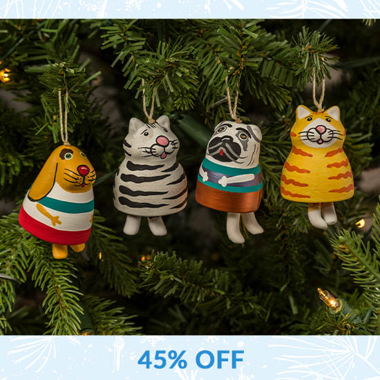 Fat Pet Bell Ornament - 45% OFF