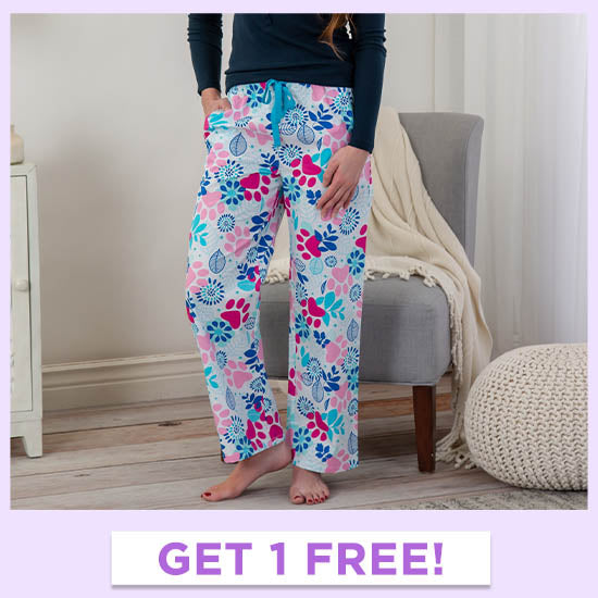 Paws & Flowers Lightweight Pajama Pants