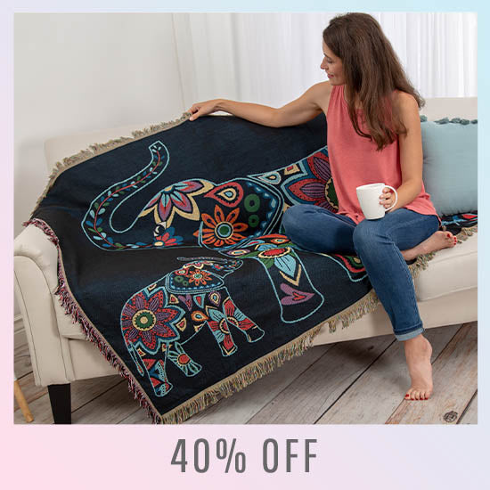 Elephant Tapestry Throw Blanket - 40% OFF