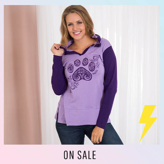 Purple Paw Swirl Two-Toned Tunic - On Sale