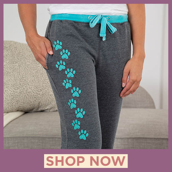 Walking Paws Burnout Sweatpants - Shop Now