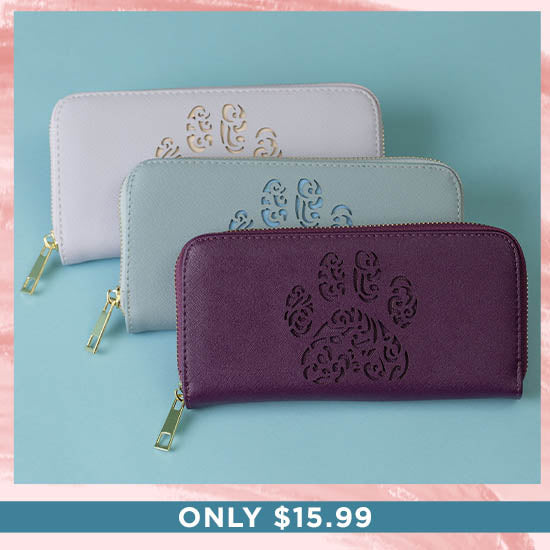 Pawsitively Beautiful Zipper Wallet - Only $15.99