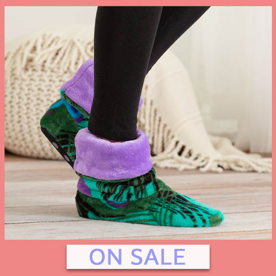 Super Cozy™ Fleece Slipper Booties - On Sale