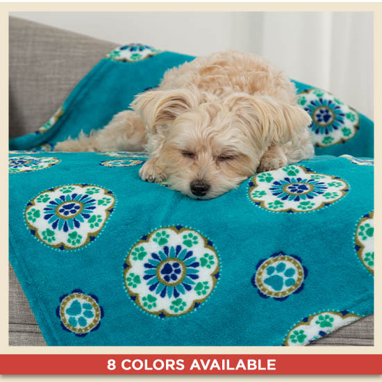 Snuggle Paws™ Fleece Pet Blanket - 8 Colors Available