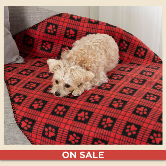 Snuggle Paws™ Fleece Pet Blanket - On Sale