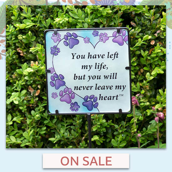 Never Leave My Heart Garden Stake - On Sale