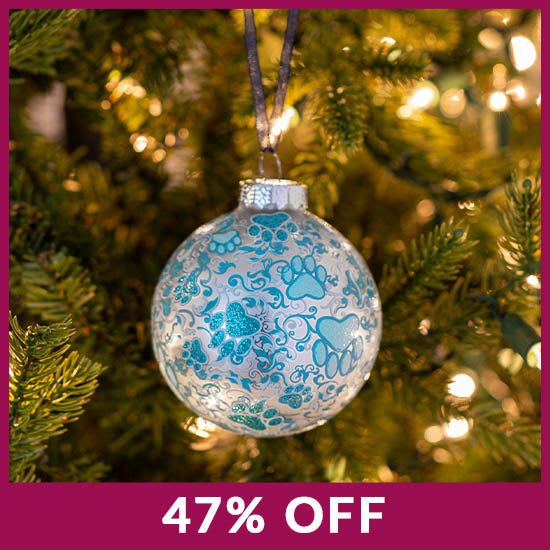 Frosty Blue Paws Ornament - 47% OFF