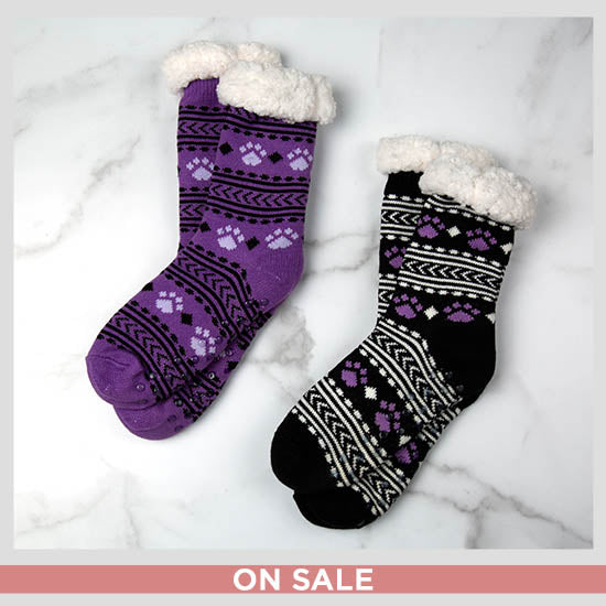 Super Cozy™ Paws Knitted Slipper Socks - On Sale